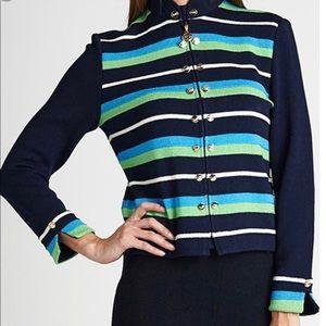 St. John Collection Santana Knit Zip Blazer